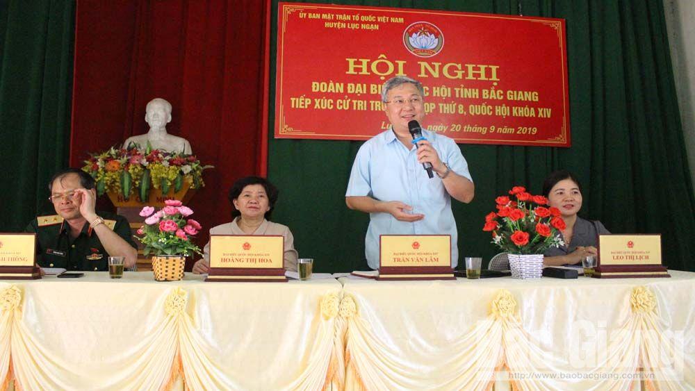"""Cử tri huyện Lục Nam, Lục Ngạn kiến nghị nhiều vấn đề """"nóng"""" với Đoàn đại biểu quốc hội"""